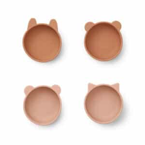 Liewood bowls dieren kommetje silicone tuscany rose mix