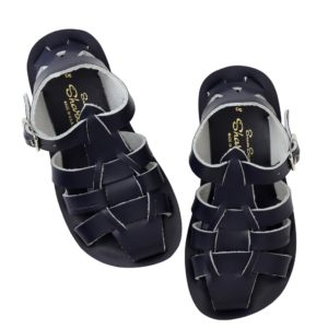 Salt water sandals shark navy