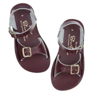 Salt water sandals surfer claret