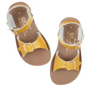 salt water sandals surfer mustard