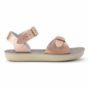 salt water sandals surfer rose gold